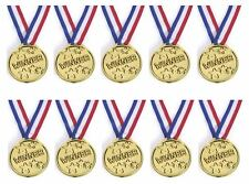 1-48PCS Children Gold Plastic Winners Medals Sports Day Party Bag Awards Toys