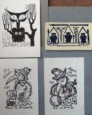 ex-libris exlibris bookplate Owl Birds art. Lewandovski Khizniak etc lot 4