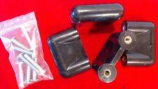Original Vintage CON&CON 4x Türgriffe Schwarz 70er 80iger Retro Schubladengriffe