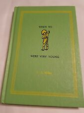 Vintage When We Were Very Young, A A Milne, 1952, Winnie The Pooh, HC
