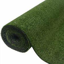vidaXL Artificial Grass 1x15m/7-9mm Green Synthetic Fake Lawn Turf Mat Garden