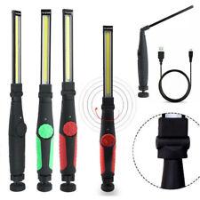 Rechargeable LED COB Flashlight Mechanic Torch Work Light Lamp Bar Camping