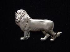"""Jj"" Jonette Jewelry Silver Pewter Majestic King of the Jungle Lion Pin"