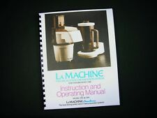 Moulinex La Machine Model 390 & 354 Food Processor Instructions Manual Recipes
