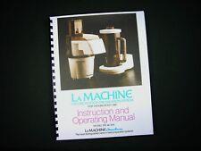 Moulinex La Machine Model 390 & 354 Food Processor Instructions Manual Recipes