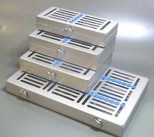 Juego De 4 Instrumentos Dentales de esterilización de bloqueo Bandejas,5,7,15 & 20 Inst. * CE,