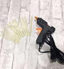 Hot Melt Glue Gun with 60 Mini Clear Glue Sticks for Arts Craft Black