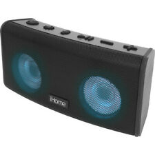New iHome iBT588B Rechargeable Waterproof Bluetooth Color Changing Speaker