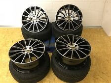 "Mercedes A & C Class AMG 45 style 18"" alloy wheels & tyres C63 BLACK POLISHED"