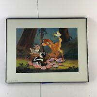 Walt Disney Exclusive Commemorative Lithograph 1997 Bambi Flower Thumper