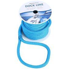 Dock Lines 5/8''50FT Double Braid Nylon Marine Boat Mooring Rope1540Lbs Blue US