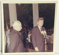Cecil Stoughton Original Photo John F Kennedy Welcomes President of India c200-3