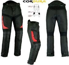 Pantalons rouge textile pour motocyclette