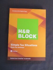 2019 H & R Block Simple Tax Situations Software FAST AUTHENTIC DOWNLOAD ONLY