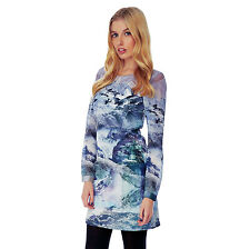 %Yumi Mountain Print Tunic Kleid multi XS-M (Uk8-12)