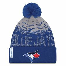 Toronto Blue Jays Winter Toque Hat Beanie American League MLB New Era Pom Cap