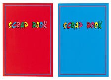 2 x Large Scrapbooks 31cm x 22cm 32 page scrap books Red & Blue Laminated covers