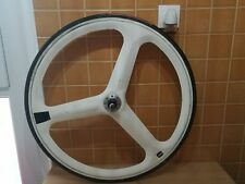 ultra rare white TVT carbon rear wheel tri spoke Shimano UG/HG compatible