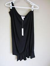 NWT JOSH BRODY One Sleeve Black Cocoon Mini Dress BLACK S One Shoulder