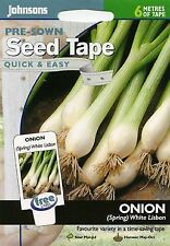 Johnsons Seeds - Pictorial Pack - Vegetable - Onion (Spring) White Lisbon (TAPE)