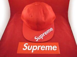 Supreme Visor Label 6-Panel Hat Red One Size Soldout SportsLocker