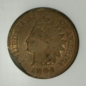 1904 Indian Cent – Mint Error – Straight Clip – ANACS MS62BN