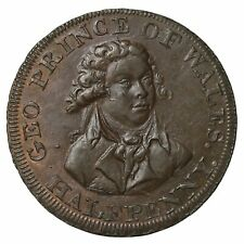 1790's Middlesex Lutwyche's Prince Of Wales Halfpenny Conder Token D&H-953