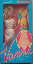 1992 Vanna White White Fringe Dress & Yellow Jumpsuit Nrfb