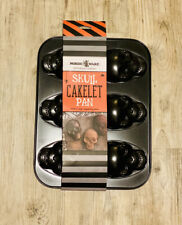 New ListingNew Nordic Ware Haunted Skull Cakelet Pan 3 Cup Capacity Rare Fast Shipping🔥👀