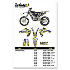 2015 SHERCO Graphics Dirt Bike Decal Sticker Kit Motocross Team Motoboutique