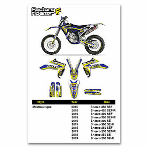 2015 SHERCO Graphics Dirt Bike Decal Sticker Kit Motocross Team Motoboutique