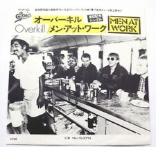 Men At Work - Overkill / Till The Money Runs Out - 1983 Japanese Pic Sleeve EX++