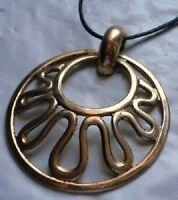pendentif chaine collier bijou vintage couleur or signé SARAH COV gold tone 4183