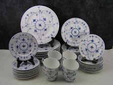 40 Pc. Royal Copenhagen Blue Fluted Plain Porcelain Dinner Service for 8 - 1st Q