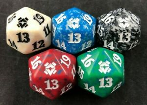 MTG Magic the Gathering D20 Zendikar Rising Spindown Dice Set of 5 Colors