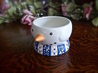 Condiment Bowl, Dipping Bowl, Snowman Kitchen, Christmas Candle Holder, Snowman