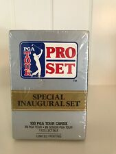 Ensemble inaugural spécial PGA Tour Pro Set non ouvert / scellé (101 cartes de golf)
