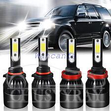 Combo For Honda Accord 2013 2014 2015 LED Headlight Kit High Low Beam White 4PCS