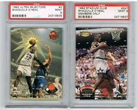 1992 Ultra SHAQUILLE O'NEAL Rejectors RC + Stadium Club Members Only PSA 9 Lot