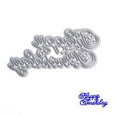 Metal DIY Cutting Dies Happy birthday Stencil Scrapbook Card Album Paper Craft
