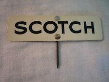 VINTAGE BUTCHERS GROCER SHOP LABEL TAG SCOTCH GREAT DISPLAY / PROP