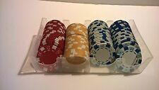 Boxed quality poker gambling chips casino incomplete cards blackjack Las Vegas