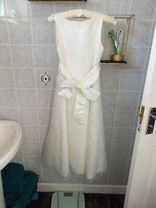 Ivory Satin Bridesmaid Dress John Lewis age 11.