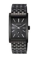 Wittnauer Men's Quartz Diamond Accents Black Bracelet 42mm Watch WN3069