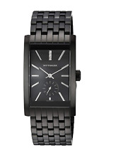 Wittnauer Men's Quartz Diamond Accents Black Bracelet 42mm Watch WN3069