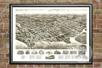 Old Map of Somers Point, NJ from 1925 - Vintage New Jersey Art, Historic Decor