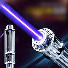 High Power  Strong Purple Beam Laser Cannon Pointer Pen Torch Flashlight