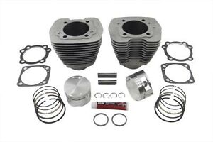 "USA Made! S&S 88"" Evolution 3-5/8"" Big Bore Cylinder Kit Silver"
