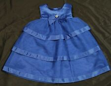 Gymboree NWT 12-18 mths Joyful Holiday Blue Gem Tulle Dress w/ matching headband