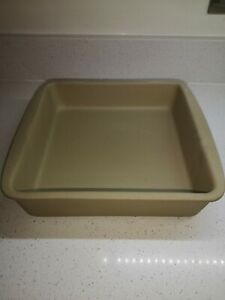 """The Pampered Chef Family Heritage Stoneware Oven Tray  11""""x11"""" New NO Box"""
